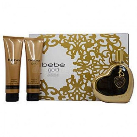 Bebe Gold 3 Piece Perfume Gift Set For Women